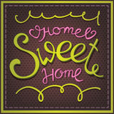 Home Sweet Home. Calligraphic lettering Home Sweet Home Stock Photos