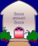 Home sweet home. Illustration -Card royalty free illustration