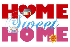 Home Sweet Home Alphabets Illustration Stock Photos