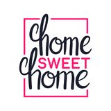 Home sweet home, art lettering design, illustration. Home sweet home, art lettering typography design, vector illustration Royalty Free Stock Photos