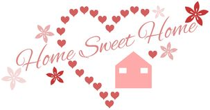 Home sweet home background isolated Stock Photos