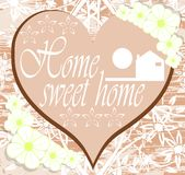 Home sweet home background Stock Image