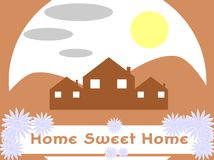 Home sweet home background Stock Photos