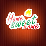 Home Sweet Home Background Royalty Free Stock Photography
