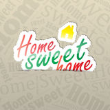 Home Sweet Home Background Royalty Free Stock Photos