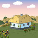 Home sweet home. Card with cute house. Vector Stock Photo
