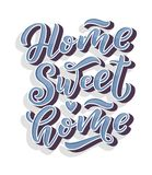 Home sweet home card. Hand drawn lettering. Modern calligraphy. Ink illustration. 3D phrase. Vector vector illustration
