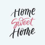Home sweet home card. Modern brush calligraphy. Stock Image