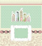 Home sweet home card. vector illustration Royalty Free Stock Image