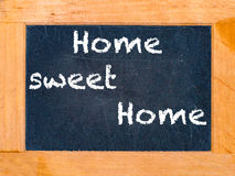 Home Sweet Home chalk board Stock Photography