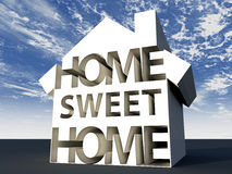 Home sweet home. 3d design. Text home sweet home Royalty Free Stock Photo