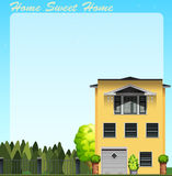 Home sweet home at daytime Royalty Free Stock Photos