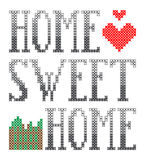 Home sweet home embroidery. This is file of EPS10 format royalty free illustration