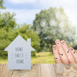 Home sweet home and family Royalty Free Stock Photos