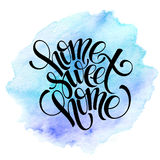 Home sweet home, hand drawn inspiration lettering Stock Photos