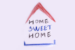 Home sweet home -  hand lettering Stock Images