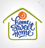 'home sweet home' hand lettering (vector) vector illustration