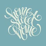 Home sweet home hand lettering, vector Royalty Free Stock Images