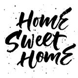 Home sweet home. Hand lettering. Vector illustration Stock Images