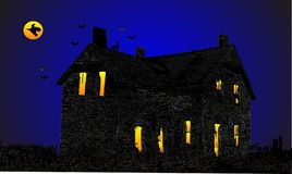 Home sweet Home, the Haunted house illustration Stock Photography