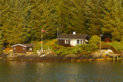 Home sweet home. House in Norway. Royalty Free Stock Photography