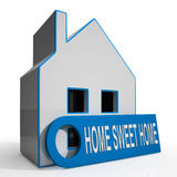 Home Sweet Home House Shows Comforts Stock Photography