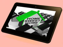 Home Sweet Home House Tablet Cozy And Familiar Royalty Free Stock Photography
