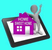 Home Sweet Home House Tablet Shows Familiar Cozy And Welcoming Stock Photo
