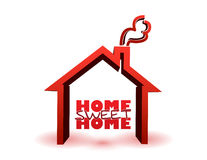 Home sweet home illustration Royalty Free Stock Photo