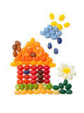 Home, sweet home - kids jelly beans design Stock Image
