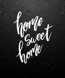 Home sweet home lettering Stock Photos