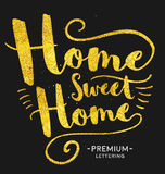 Home Sweet Home Lettering Royalty Free Stock Image
