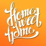 Home sweet home lettering. Handmade calligraphy, vector illustration. Hand written 'Home sweet home' poster. Modern hand royalty free illustration