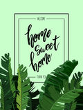 Home sweet home lettering Stock Photo