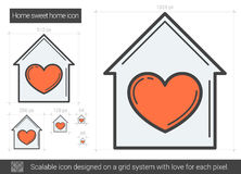 Home sweet home line icon. Royalty Free Stock Photo