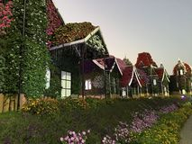 Home sweet home. Miracle Garden DxB royalty free stock images