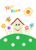 Home sweet home. New home wishing card design Royalty Free Stock Photography