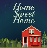 Home sweet home at night Stock Images