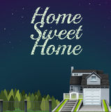 Home sweet home at night time Royalty Free Stock Photo