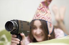 Home sweet home (Old Super 8  generation) Stock Images