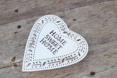 Heart in retro vintage style, Home Sweet Home, Mothers Day  Royalty Free Stock Photography