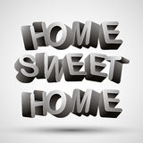 Home sweet home phrase. Stock Photos