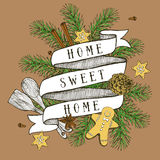 Home sweet home poster Stock Photo
