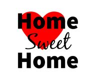 Home sweet home. Red heart. Design for web, print etc Stock Image