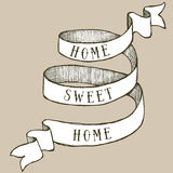 Home sweet home ribbon Stock Image