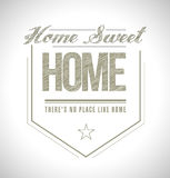 Home sweet home seal illustration design Royalty Free Stock Images