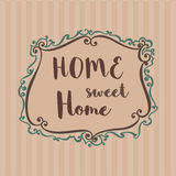 Home Sweet Home Sign Stock Photos