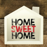 Home sweet home sign Royalty Free Stock Images