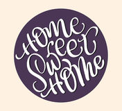 Home sweet home text on beige background. Calligraphy lettering Vector illustration EPS10 vector illustration