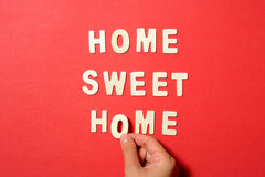 Home Sweet Home Text Stock Photo